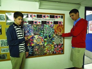 After being caught chewing gum in class, Dr. K punished juniors Marc Bernstein and William Rushton by making them come in on Saturday and help her find fractals.
