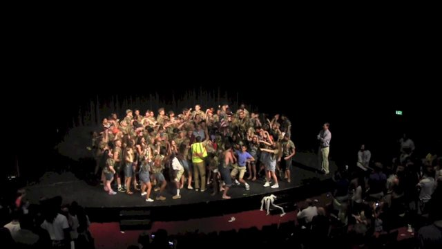 Trashy Seniors Storm the Stage, Welcome the New Year