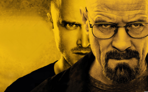 Main characters Walt and Jesse really do break bad.  Photo: blogs.sacurrent.com/index.php/breaking-bad