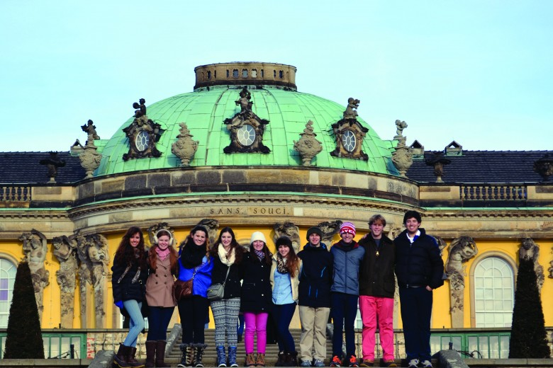 The group toured the extravagant Sanssouci, a castle built by Frederick the Great in Potsdam, Germany. Photo: Tim Hornor