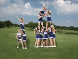 Pace cheerleaders will be in full force on the golf course, cheering on the Knights. Photo: Fred Assaf