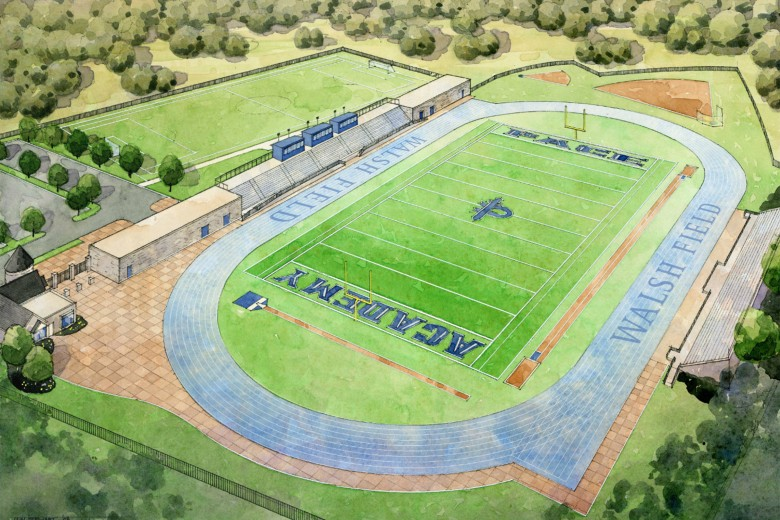 A planned picture of what Walsh Field will look like was revealed with the initial press release. Photo: Caitlin Jones