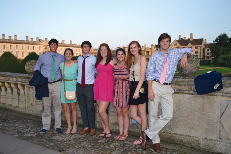 Students on the Cambridge Global Education trip explored world economics with esteemed professors. Photo: Tim Hornor