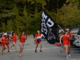 Seniors race towards the FAC to storm the stage on the first day of school. Photo: Lee Wilson