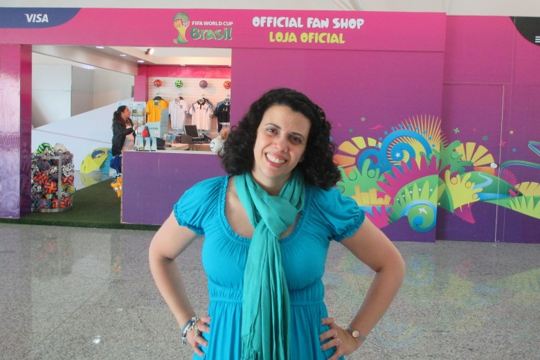 Dra. Pontes enjoys her time working at the World Cup in Brazil this summer. Photo: Dra. Pontes