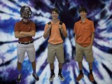 (L-R) Scott, David, and Zack Leven model their trendiest outfits.