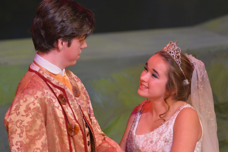 "Junior Ryan Duvall and senior Caillin Cooke show how their chemistry made ""Into the Woods"" so special. Photo: Fred Assaf"