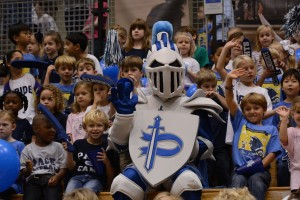 Can you spot the Pace Knight at the Pep Rally?