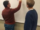 Mr. Newman Drops some slick advice on Junior Jake Jenkins