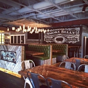 Smokebelly's furniture helps create the atmosphere of true authentic BBQ. Photo: Smokebelly