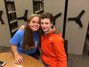 Freshmen Molly Shapiro and Jack Douglass owe their four-year relationship to Gmail chat. Photo: Libby Sams