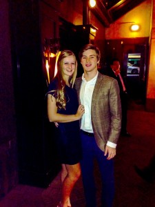 Hot couple Kate Bethel and Austin Little enjoy their date at Chops Steakhouse. Photo: Austin Little