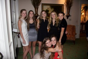 Seniors Emma Laura Gash, Darby Cochran, Molly Marks, Ashley Little, Cadie Schiffer, Lindsey Sample, and Hayley Hartman at their junior PDC picture party last year. Photo: Lindsey Sample