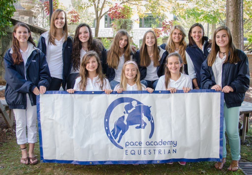 The Pace Equestrian team (pictured here in fall 2014) is composed of middle and high school students. Photo: Laura Inman