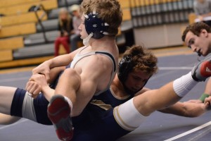 Frank Houser bests his competition as a freshman during senior night last year. Photo: Fred Assaf