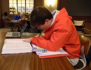 Senior Jake Richards works hard at the beginning of the new year. Photo: Joe Loughran