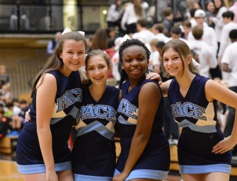 Basketball Cheerleaders Energize Inman