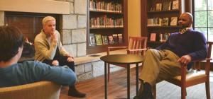 Photo: Libby Sams Quotes: Mr. Holifield, Ms. McCrary, and Kieran LeHane (L-R) Kieran LeHane, Mitch Inman, and Mr. Holifield converse on LGBTQ subjects.
