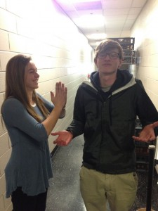 Junior Jack McMillin fends off females left and right.