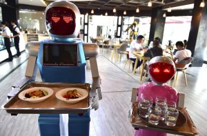 Robots have already started taking the jobs of humans in cafeterias throughout the world. Photo: Reuters
