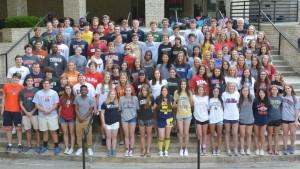 Class of 2016 sport their college shirts. Photo credit: Mr. Assaf