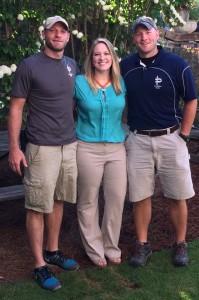 Wes, Kaitlyn and Matt (left to right) are just three of five Fortier family members working at Pace.