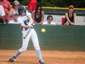 Senior Laura Shelton expertly hitting the ball Photo: Mr. Shelton
