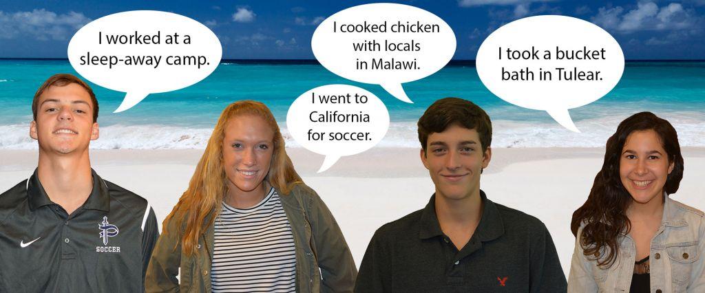 (L-R) Senior Sammy Lettes, sophomore Hannah White, senior Lex Trevelino, and junior Erica Tashma share their favorite experiences. Photos: Landon Goldstein