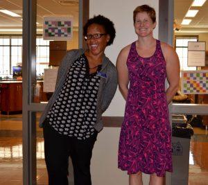 Dr. Haizlip (L) and Ms. Carpenter