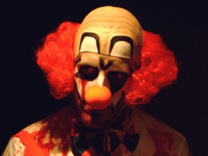 The killer clown craze has caused waves of fright throughout the world. Photo: wikipedia