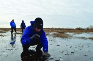 Senior Ross Cefalu engages in research in Manitoba, Canada in order to grasp a better understanding of the changing climate. Photo: Ms. Anderson