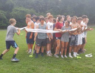 Freshmen Bond at Retreat