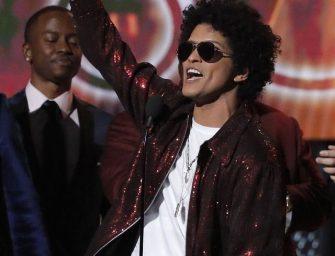 Bruno Mars Sweeps Top Categories at 2018 Grammys