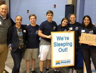 Students Sleep Out for Homeless Youth