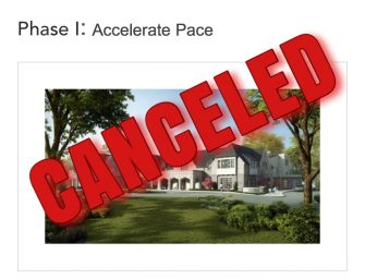 Accelerate Pace Campaign Canceled